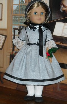 1850's Holiday Dress for 18 Girls like by SugarloafDollClothes. $65.00, via Etsy.