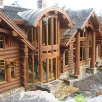 Log Home Decorating Accessories Log Cabin Living, Log Cabin Homes, Log Cabins, Dream Home Design, My Dream Home, House Design, Log Home Designs, Log Home Decorating, Cabins And Cottages