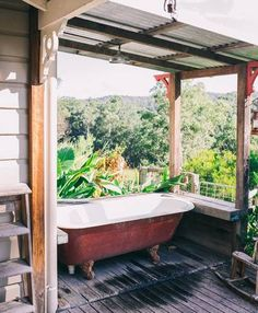 Bellingen Farm House: WeilHouse Living - Farm stays for Rent in Brierfield, New South Wales, Australia Farm Shed, Farm House, My House, Shed House Plans, Country Interior, Shed Homes, Clawfoot Bathtub, Indoor, Australia