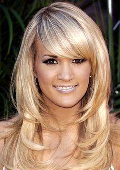 Long Layered Haircuts With Bangs - Bing Images Straight Layered Hair, Layered Hair With Bangs, Long Layered Haircuts, Layered Hairstyles, Straight Haircuts, Medium Haircuts, Trendy Hairstyles, Hair Layers, Choppy Layers