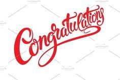 Congratulations calligraphy. Vector @creativework247