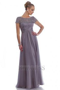 A-Line/Princess Jewel Floor-length Chiffon Mother of the Bride - IZIDRESSBUY.com at IZIDRESSBUY.com