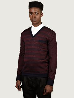 173ef2044efef2 Alexander McQueen Men's Jacquard V-Neck Sweater | oki-ni Alexander Mcqueen,  Men