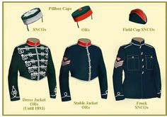 British; Royal Bucks Hussars. The Senior NCO's Frock coat was introduced in 1899 ad was in 'Invisible Green'