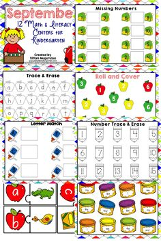 Math and Literacy centers for September
