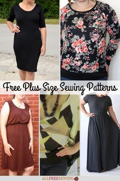 Highlight your curves with this list of plus size clothing patterns that work perfectly to flatter your body. Check out our collection of 23 Fabulous and Free Plus Size Sewing Patterns! Plus Size Sewing Patterns, Clothing Patterns, Dress Patterns, Clothing Ideas, Shirt Patterns, Pattern Sewing, Coat Patterns, Pants Pattern, Plus Size Sommer