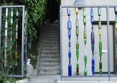 DIY Fence from recycled bottles