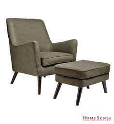 Love the Shape of this chair and footstool! Home Furnishing Accessories, Home Furnishings, Patio Ideas Townhouse, Hobbit Houses, Homesense, Modern Chairs, Decoration, Vintage Furniture, Decorative Items