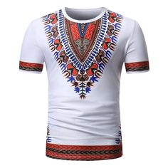 africa clothing fashion african clothes hip hop african dress dashiki casual t-shirts African Attire For Men, African Wear, African Dress, African Style, African Outfits, African Clothes, Ethnic Fashion, African Fashion, Casual T Shirts