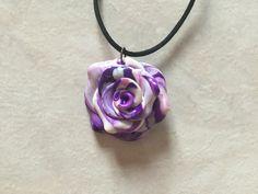 Collier rose rose violet blanc cordon réglable : Collier par oeil-de-tigre