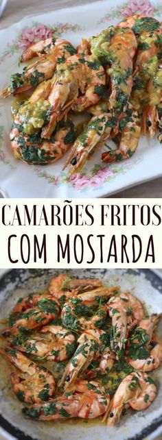 Before serving a lunch or a dinner prepare these delicious fried shrimps with mustard. They are simple to prepare and have excellent presentation. Seafood Dishes, Fish And Seafood, Seafood Recipes, New Recipes, Easy Recipes, Shrimp And Rice, Fried Shrimp, Yummy Appetizers, Appetizer Recipes