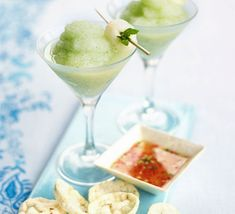 Frozen Lychee & Mint Cocktails Recipe. Ingredients: 400g can lychees, a small bunch of Mint Leaves. 100ml Vodka - (or use Lychee Juice for a non-alcoholic version). Juice 2 limes. 2 Handfuls of Ice