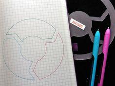 Healthy Habit Bullet Journal Stencil Creates Circle Loop Planning Layout Break Bad Habits Create Good Habits by MoxieDori January Bullet Journal, Bullet Journal Spread, Bullet Journal Layout, Bullet Journal Inspiration, Journal Ideas, Bullet Journal Stencils, Planner Layout, Creative Journal, Healthy Habits