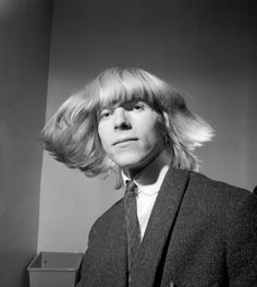 David Bowie: Before Bowie was Bowie, he was mop-topped Davy Jones, pictured here�in 1965. The British pop star changed his name after the Monkees and their lead singer, the other Davy Jones, exploded on the music scene. (Photo by Potter/Express/Getty Images)