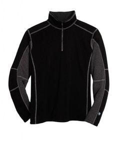 Kuhl Men's Revel 1/4 Zip Sweater with color blocking detail.
