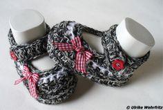 Babyschühchen Babyschuhe Ballerinas gehäkelt von stricklienes lädchen auf DaWanda.com