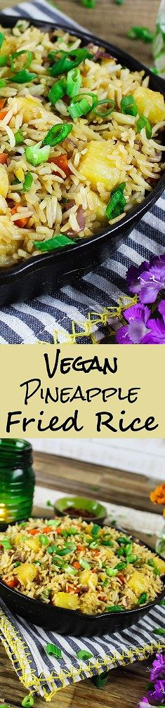 This Easy Pineapple Fried Rice is sweet, savory & tangy. It's a healthier alternative to takeout, because it's lower in sodium, vegan & gluten-free. I used to be a big…