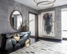 flur einrichten ideen und vorschl ge flur einrichten runde spiegel und flure. Black Bedroom Furniture Sets. Home Design Ideas