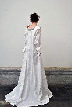 cotton work gown