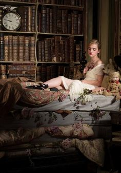 Emma Watson as The Princess and the Pea with books to read. Galaxie Magazine, August 2009 issue. The Princess and the Pea is a literary fair...