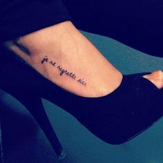 'Je ne regrette rien' which means 'i regret nothing'