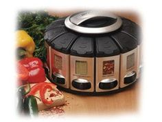 Satin Pro Select-A-Spice Carousel by KitchenArt by KitchenArt at Cooking.com #holidaycooking