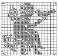 angel with birth Filet Crochet, Crochet Cross, Crochet Chart, Thread Crochet, Cowboy Crochet, Stitch And Angel, Cross Stitch Angels, Cross Stitch Heart, Crochet Angel Pattern