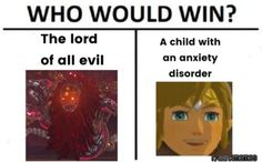 how does link have anxiety <<< how does Link not have anxiety? You ever read Zelda or Miphas diary? The Legend Of Zelda, Legend Of Zelda Memes, Legend Of Zelda Breath, Metroid, Botw Zelda, Video Game Memes, Link Zelda, Twilight Princess, Princess Zelda