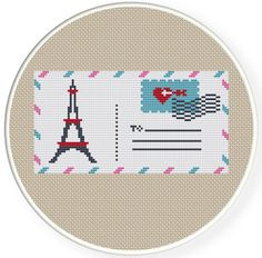 Buy 4 get 1 free buy 6 get 2 freeCounted Cross, A love letter from paris, by danceneedle, $4.50