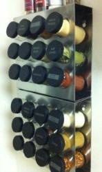 Stainless steel spice rack {featured on Home Storage Solutions 101}