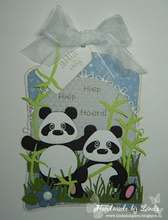 Handmade by Linda Marianne Design Cards, Punch Art, Kids Cards, Panda Bear, Shadow Box, Cardmaking, Projects To Try, Paper Crafts, Scrapbook