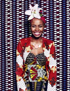 Its African inspired. African Inspired Fashion, African Print Fashion, Africa Fashion, Fashion Prints, African Prints, Fashion Styles, Fashion Art, African Dresses For Women, African Attire