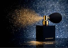 L'Or Celeste by Givenchy: Gold shimmer powder in a boudoir style atomizer.