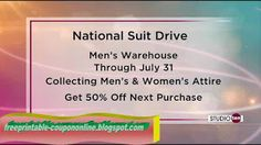 Men's Wearhouse Coupons Ends of Coupon Promo Codes MAY 2020 ! Men 's Wearhouse is a great retailer who sells premium suits made from . Pizza Coupons, Mcdonalds Coupons, Kfc Coupons, Walgreens Coupons, Target Coupons, Olive Garden Coupons, Pizza Hut Coupon, Home Depot Coupons, Free Printable Coupons