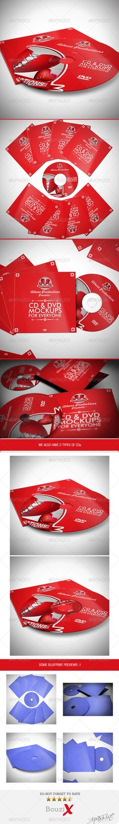 CD Sleeve & Sticker Mockups