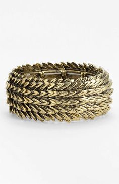 Cara Accessories 'Feather' Stretch Bracelet | Nordstrom