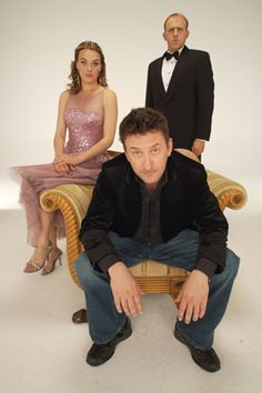 Not Going Out. Image shows from L to R: Kate (Megan Dodds), Lee (Lee Mack), Tim (Tim Vine). British Tv Comedies, British Comedy, Comedy Tv, Comedy Show, Sally Bretton, Megan Dodds, Tim Vine, Lee Mack, Miranda Hart