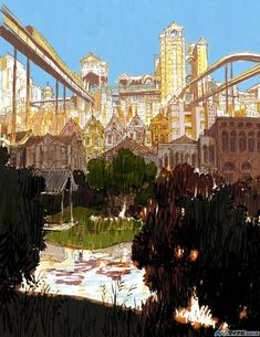 Beautiful concept art from Disney's Big Hero 6 by Tadahiro Uesugi