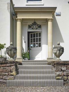 Brockway Portofino Olivia Stripe - photo courtesy of Brockway Carpets Striped Carpets, Carpet Styles, Persian Carpet, Carpet Runner, Mansions, House Styles, Woods, Home Decor, Striped Rug