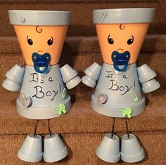 Infant, New Baby, Shower Girl Flower Pot Art, Clay Flower Pots, Flower Pot Crafts, Clay Pot Projects, Clay Pot Crafts, Diy Clay, Painted Clay Pots, Painted Flower Pots, Painted Pebbles