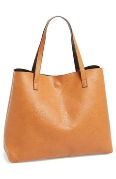 Street Level Reversible Faux Leather Tote & Wristlet (Juniors)   Nordstrom