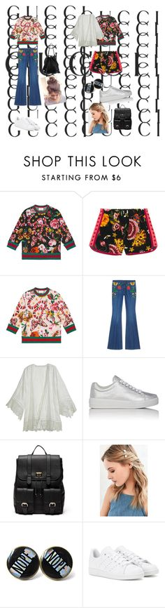 """""""Presenting the Gucci Garden Exclusive Collection: Contest Entry Be modern with Gucci!"""" by ajlakukic ❤ liked on Polyvore featuring Gucci, Calypso St. Barth, Prada Sport, Sole Society, Urban Outfitters, adidas, Loeffler Randall, modern and gucci"""
