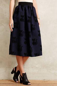 Shadow Cat Jacquard Skirt