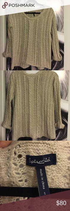 Splendid sweater Beautiful oatmeal splendid knit sweater Splendid Sweaters Crew & Scoop Necks