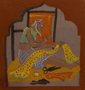 National Gallery Of Modern Art (NGMA), New Delhi. Tailor, 1937. Nandalal Bose. Tempera on paper.