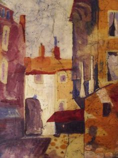 Cityscape painting original impressionist by MarciaMcKinzieArt