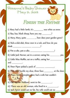 jungle baby shower games printable by on etsy