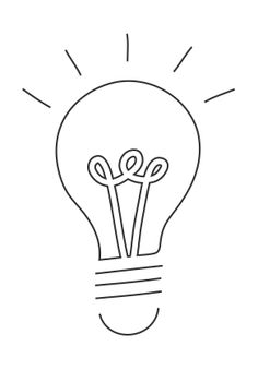 one line drawing light bulb - Google zoeken