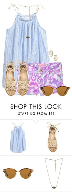 My pops is halfway through the Boston Marathon☀️ by flroasburn ❤ liked on Polyvore featuring Lilly Pulitzer, Paloma Barceló, Ray-Ban and Kendra Scott