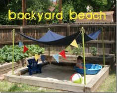 Baby backyard beach